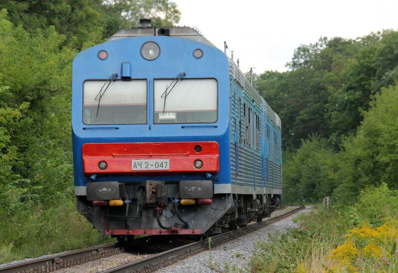 АЧ2-047 рейсом Брянск - Орёл на перегоне Саханская - Цон