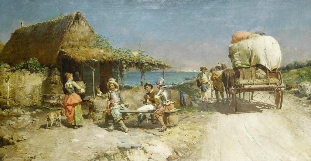 1877 Закуска у придорожной гостиницы (Refreshments at a wayside inn)