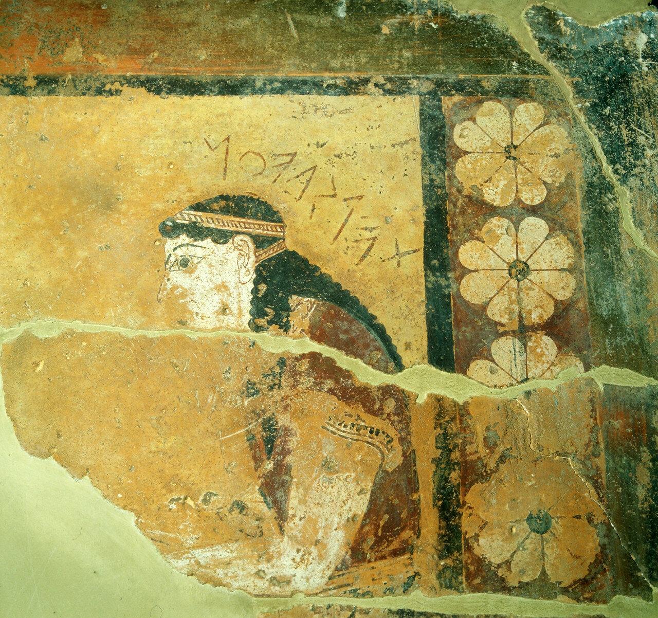 Окрашенный метоп с длинной стороны храма, Коринф, около 625 г. до н.э.