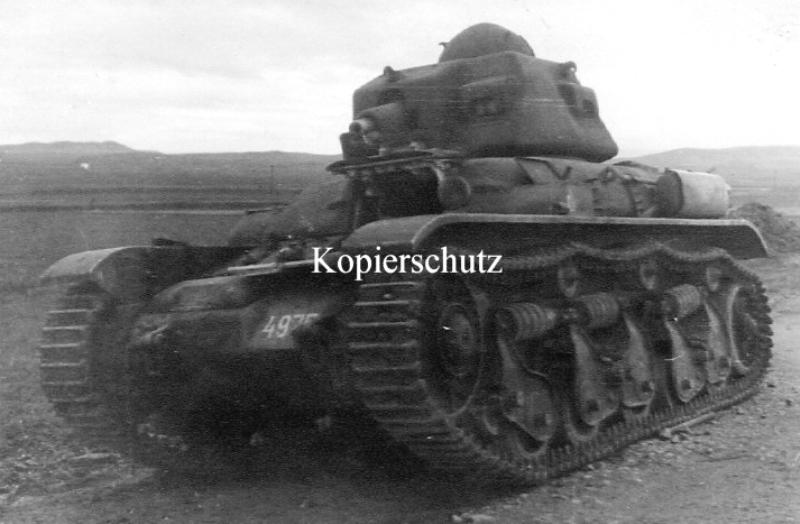 Брошенный югославский танк Renault R-35. Апрель 1941 года.