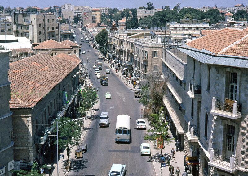 1961 Israel Jerusalem Jaffa Road Main Street.JPG