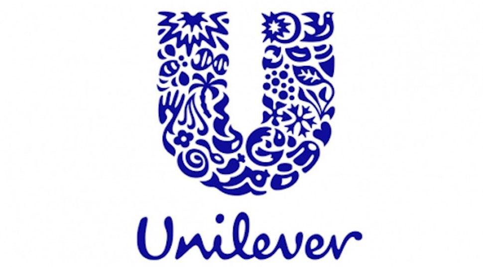 Огромная буква «U» в логотипе корпорации Unilever составлена из иконок, представляющих различные гра