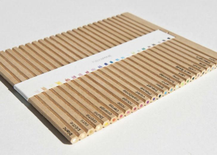 Канадский дизайнер Лоуренс Грегоар предложил набор цветных карандашей, от которого надо просто отлам