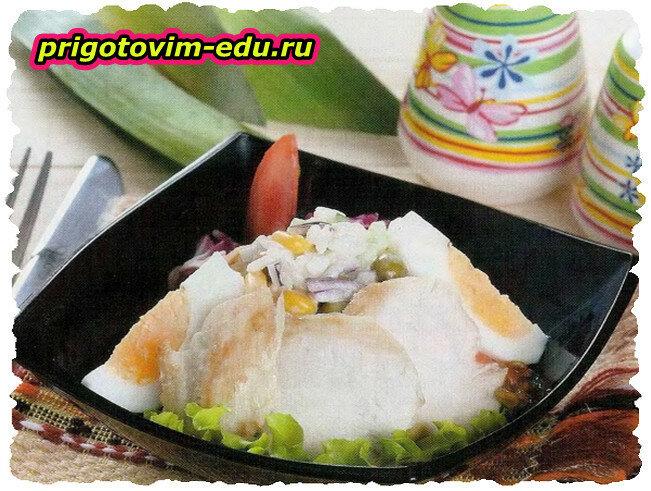 Столичный салат с рисом