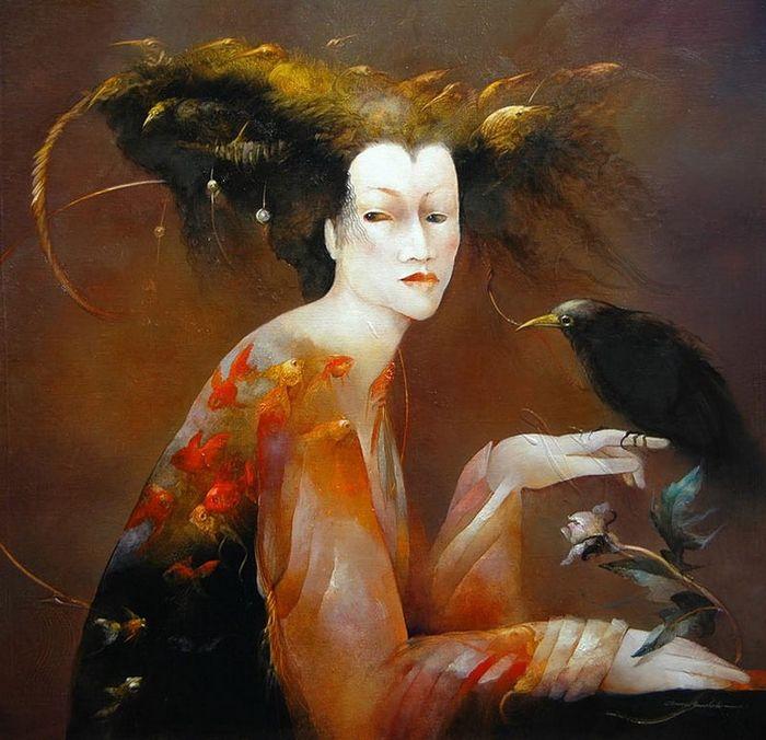 Иллюстратор Анна Башелье— Метаморфозы и сказочные фантазии