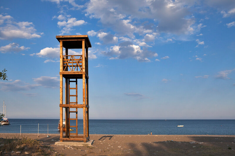 lifeguard cabin on the beach