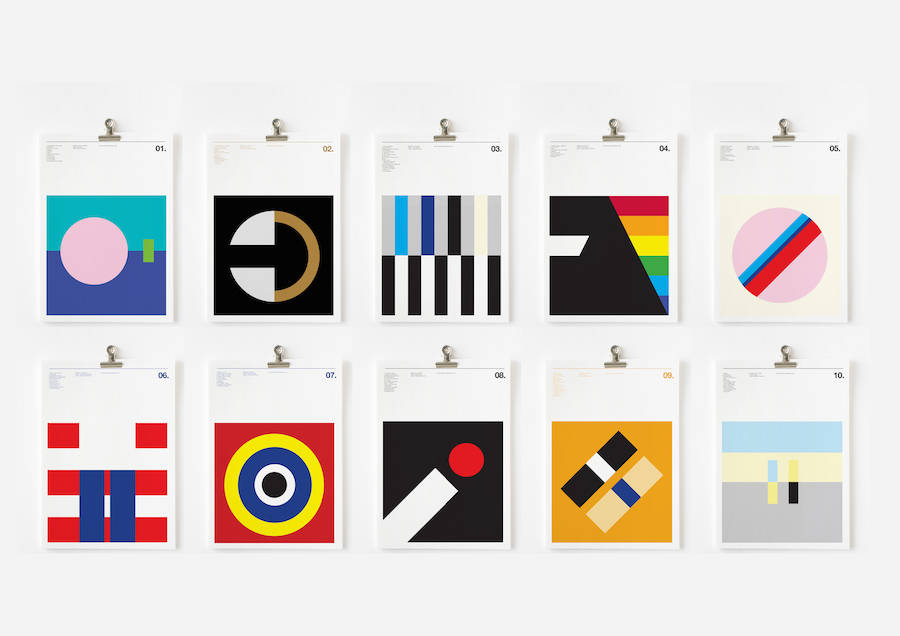 Graphic Posters of Classic Album Covers