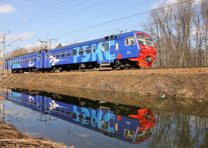 Эд4М-0254 РЭКС у платформы Долгопрудная