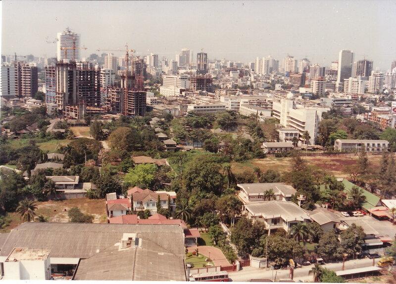 1991 Bangkok view from Tara Hotel Sukhumvit.jpg