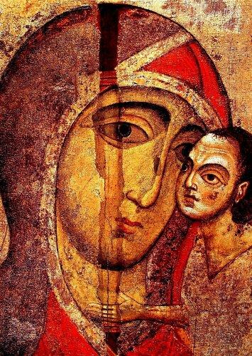 Старорусская икона Божией Матери. Вторая половина XIII века.