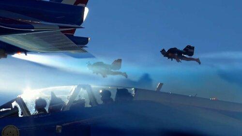 Воздушное шоу - Jetman пилоты vs Патруль де Франс