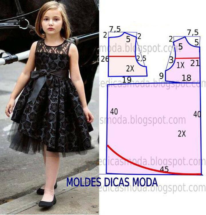 Выкройка платья для девочки 9 лет своими руками