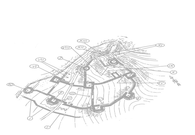 Топографический план Голубацкой крепости