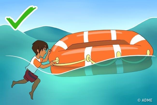 Если выоказались воткрытом море врезультате кораблекрушения или приводнения самолета, вокруг вас