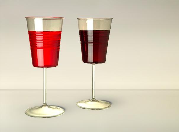 Иеще одна вариация натему пластиковых стаканчиков отдизайнера Максима Велковского. Ботанический б