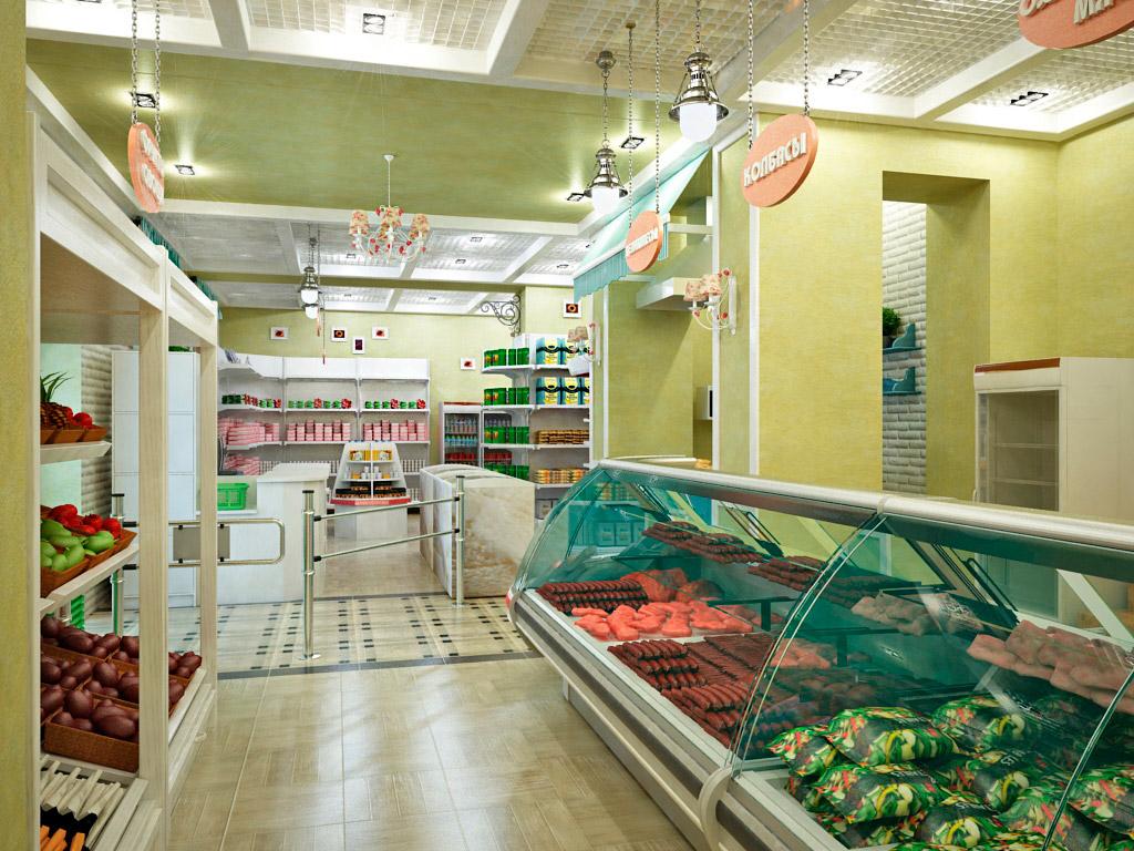 Современное торговое оборудование для магазина продуктов (10 фото)