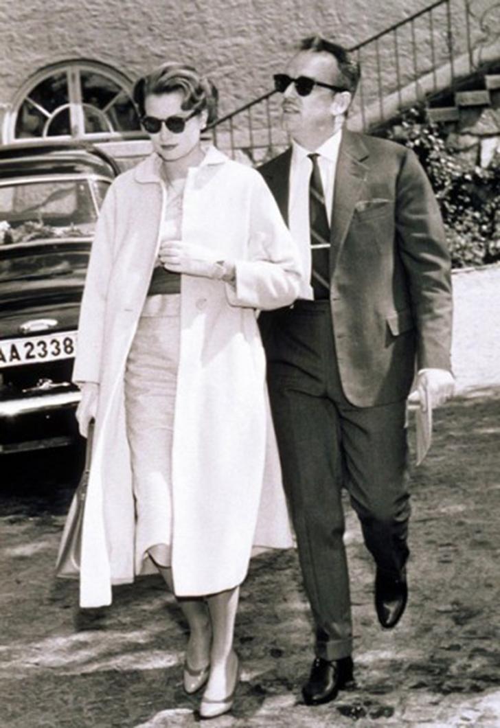 20. Грейс Келли и князь Монако Ренье III.