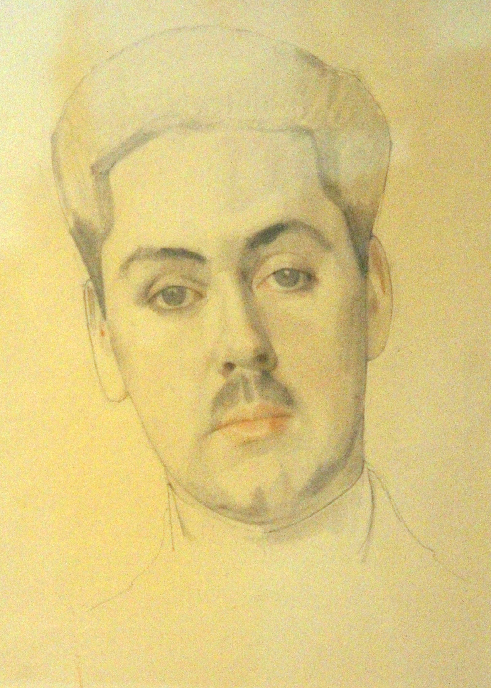 Сомов К.А. 1869-1939 Мужской портрет. 1912 Бумага, карандаш, сангина. Латвийский Национальный художественный музей