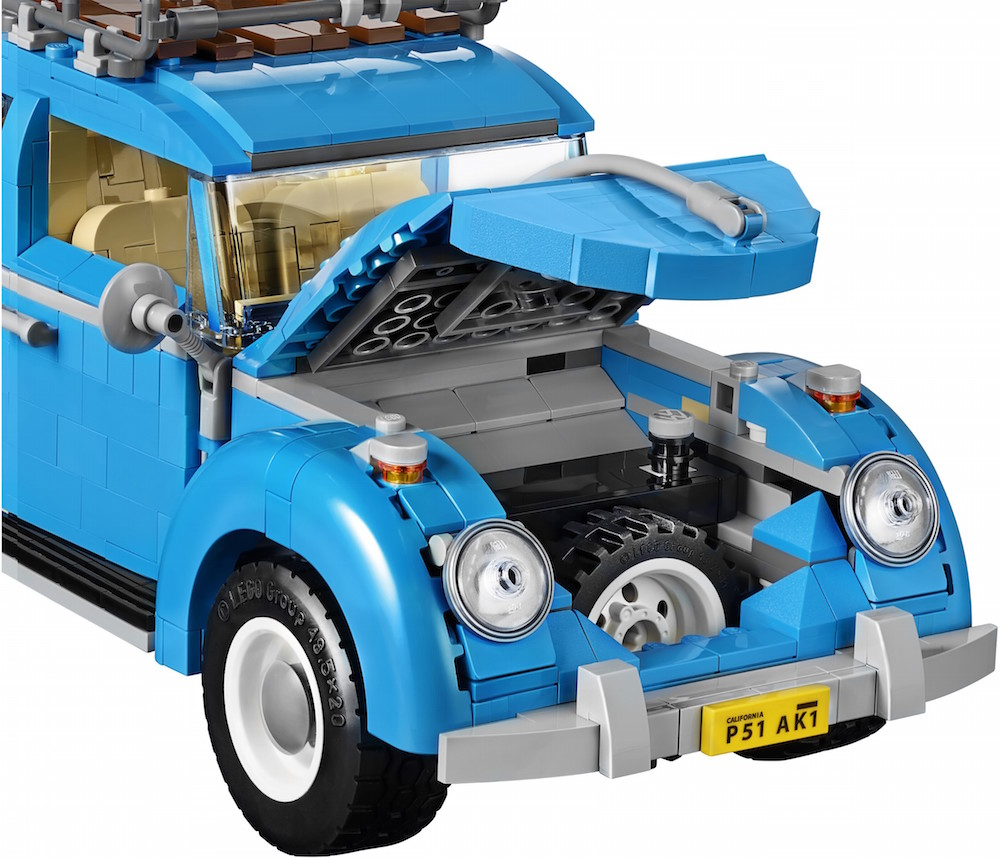 LEGO Designs a Vintage 1960's Volkswagen Beetle Fully Prepped For a Day at the Beach