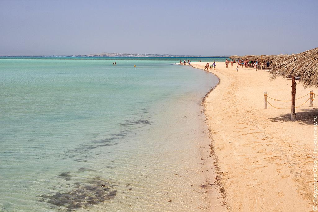 пляжи райского острова хургада