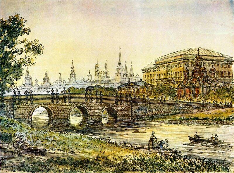 Через Неглинку пройтись, во дворец царицы Натальи Кирилловны заглянуть, да по Москве прогуляться