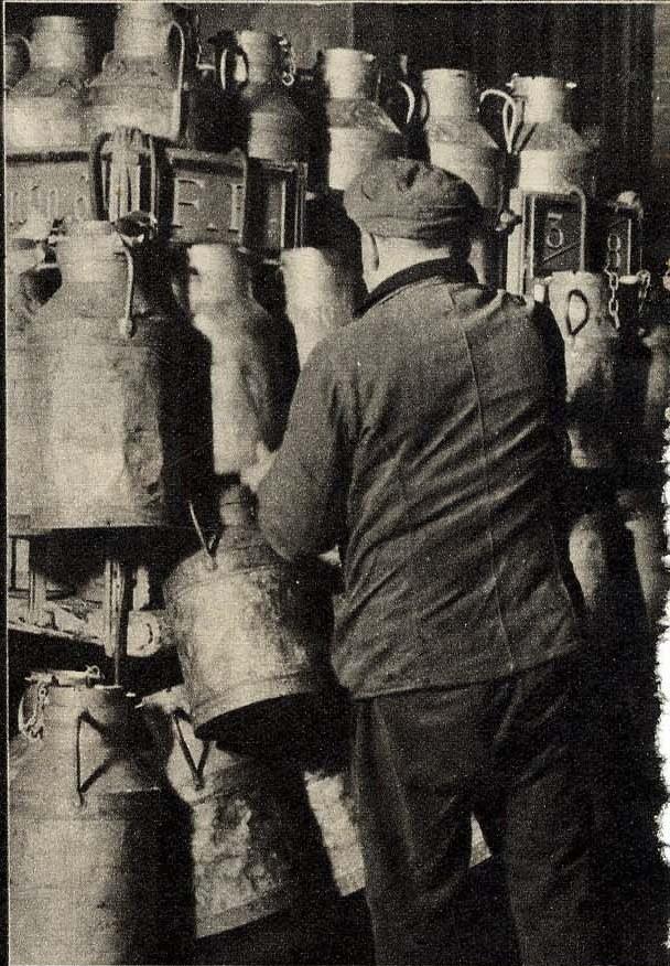 1938. Молочник готовится развозить свой товар