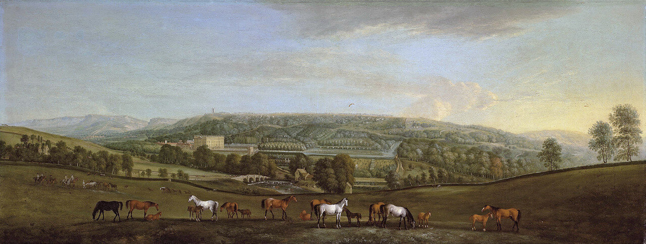Chatsworth House and Park, by Pieter Tillemans