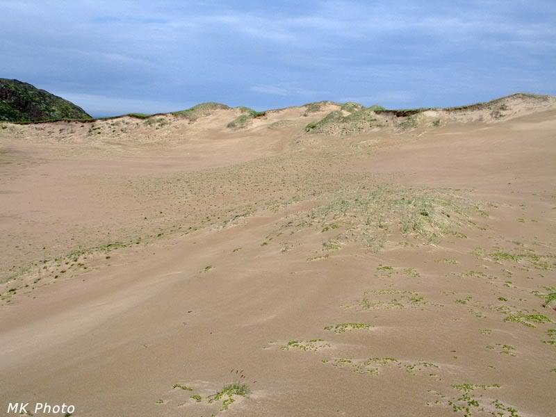 Песчаный склон