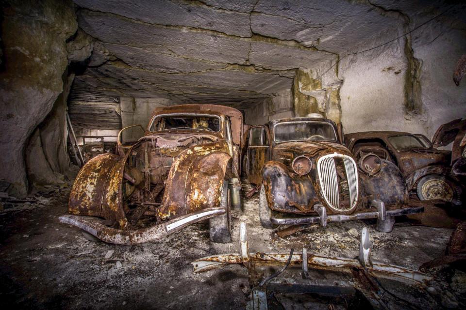 Коллекция авто, спрятанная от фашистов в подземелье