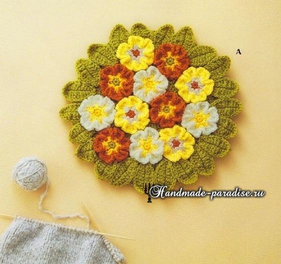 Схемы вязания крючком сидушек и ковриков (7)