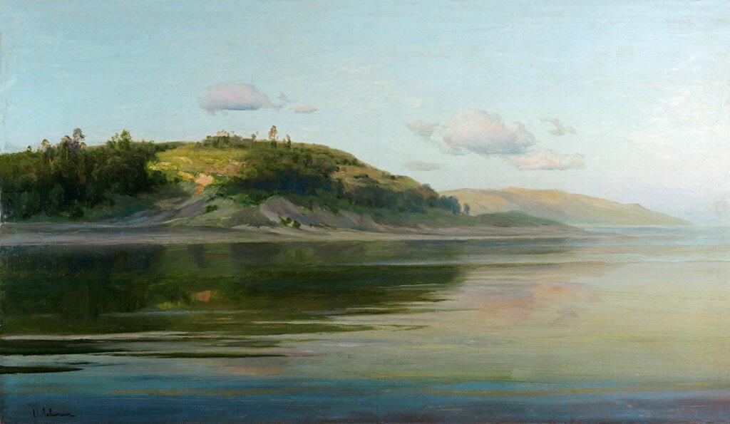 Летний вечер. Река - И.И. Левитан, 60 kb1890-96
