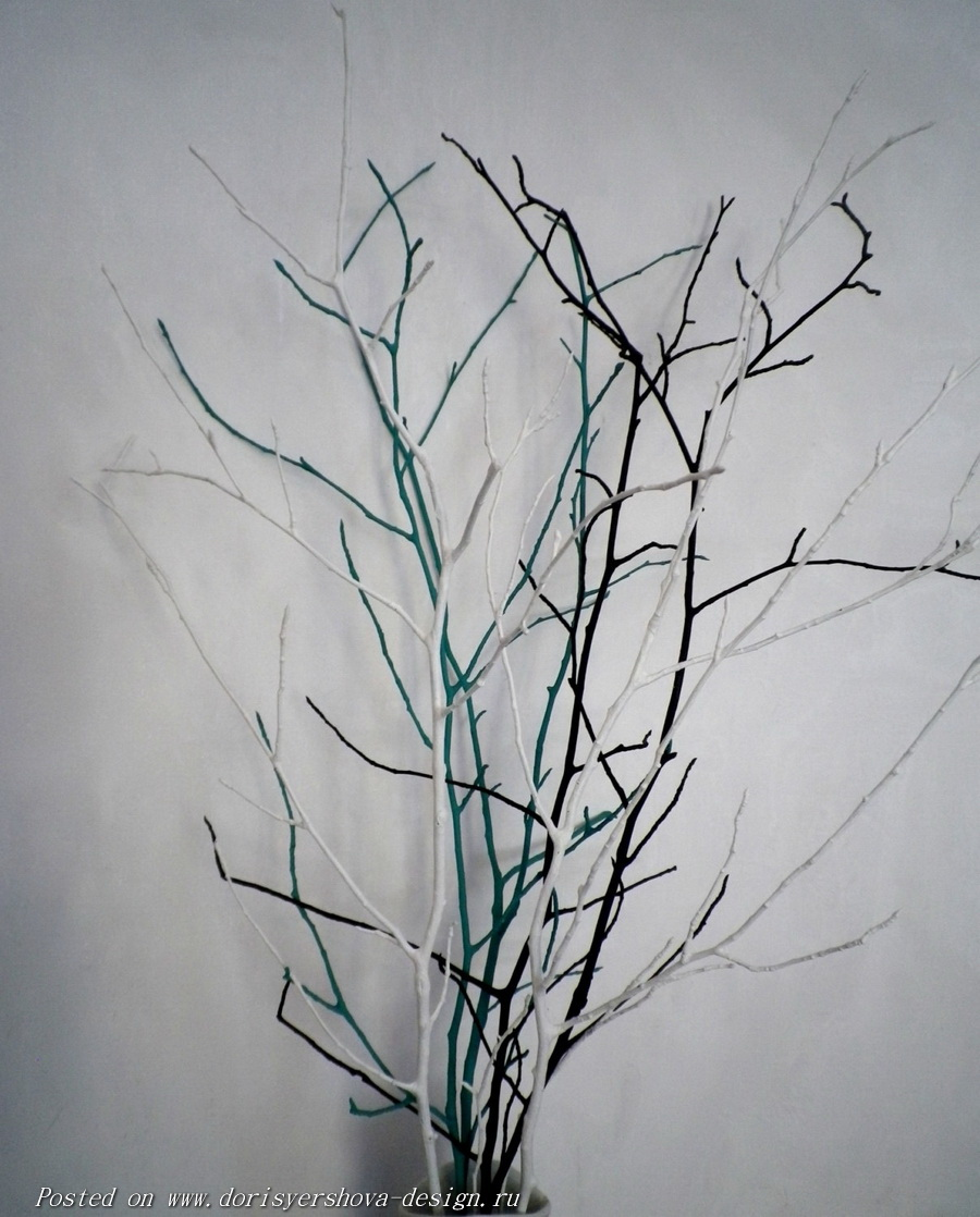 цветные ветки