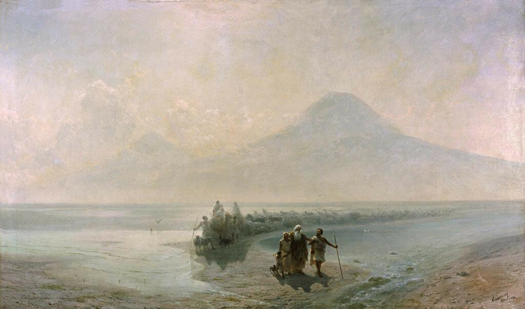 Сошествие Ноя с горы Арарат 1889 год