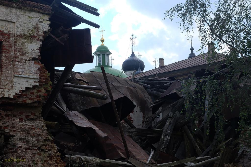 Горицкий Воскресенский монастырь в Вологодской области, разрушения
