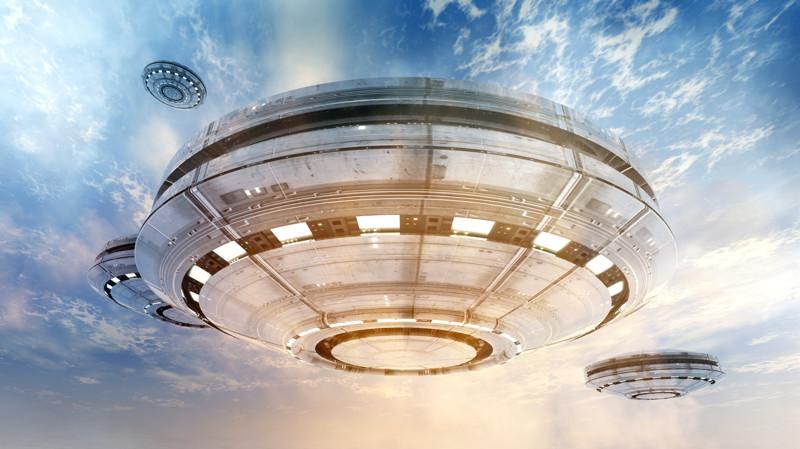 UFOS and blue sky