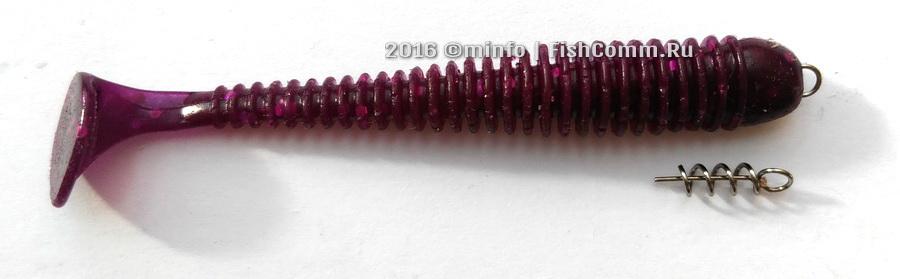 Фиксатор для силиконовых приманок (пружинка) 14 мм. (10 шт.)