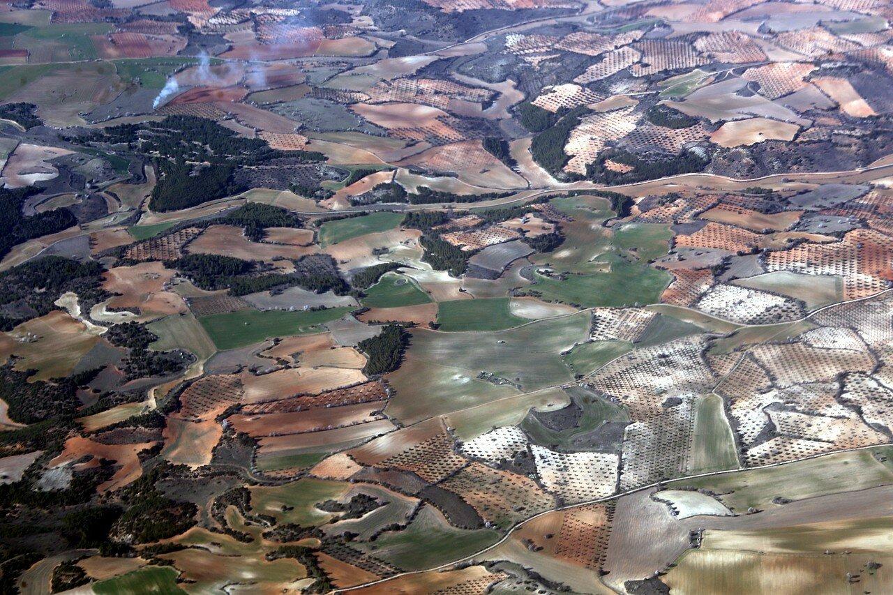 Провинция Гвадалахара, вид с самолета