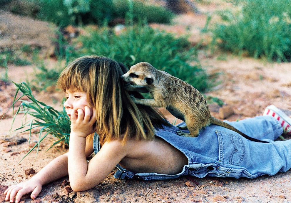 9. Типпи и страус Линда, 1996 год. (Фото Sylvie Robert):