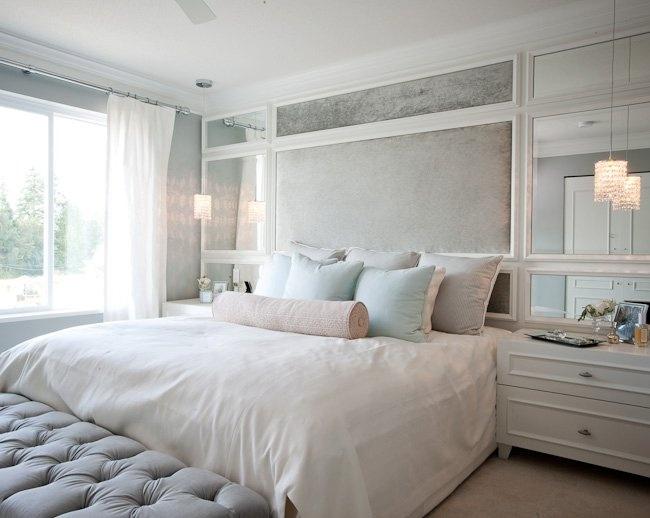 Зеркала также смогут визуально расширить помещение ибудут изящным украшением встроенных шкафов ист