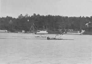 Общий вид лодок во время соревнований