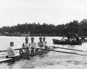 Лодка во время соревнований