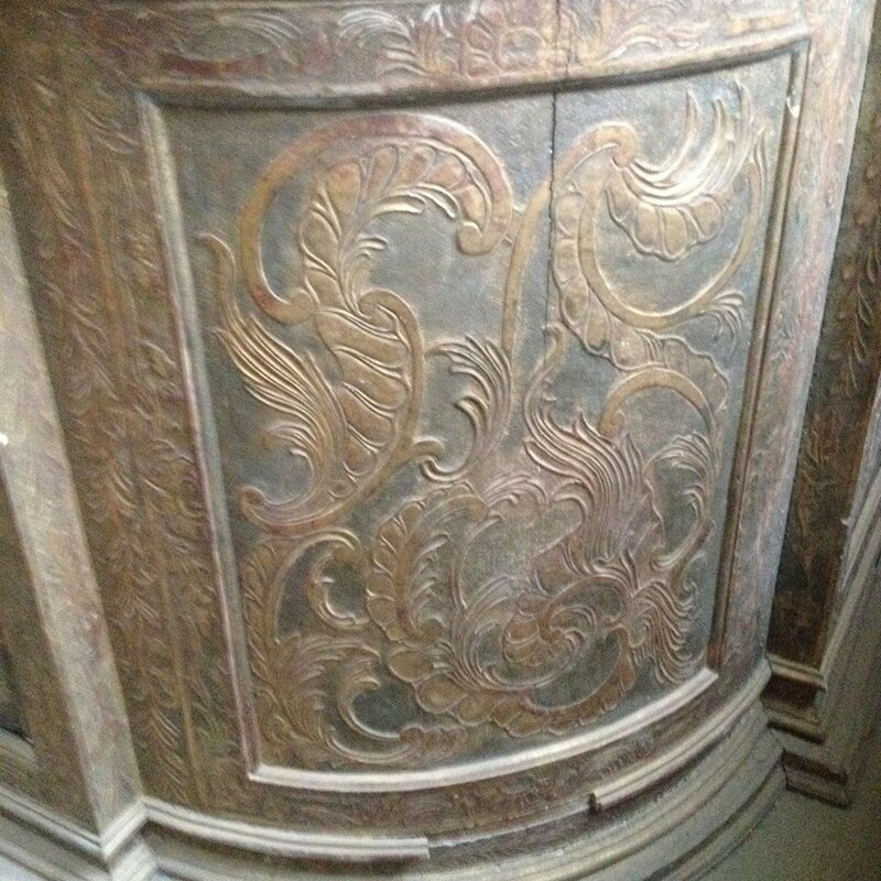 Детали алтаря Московской евангелическо-лютеранской церкви св. Архангела Михаила в Немецкой слободе. 1764 год