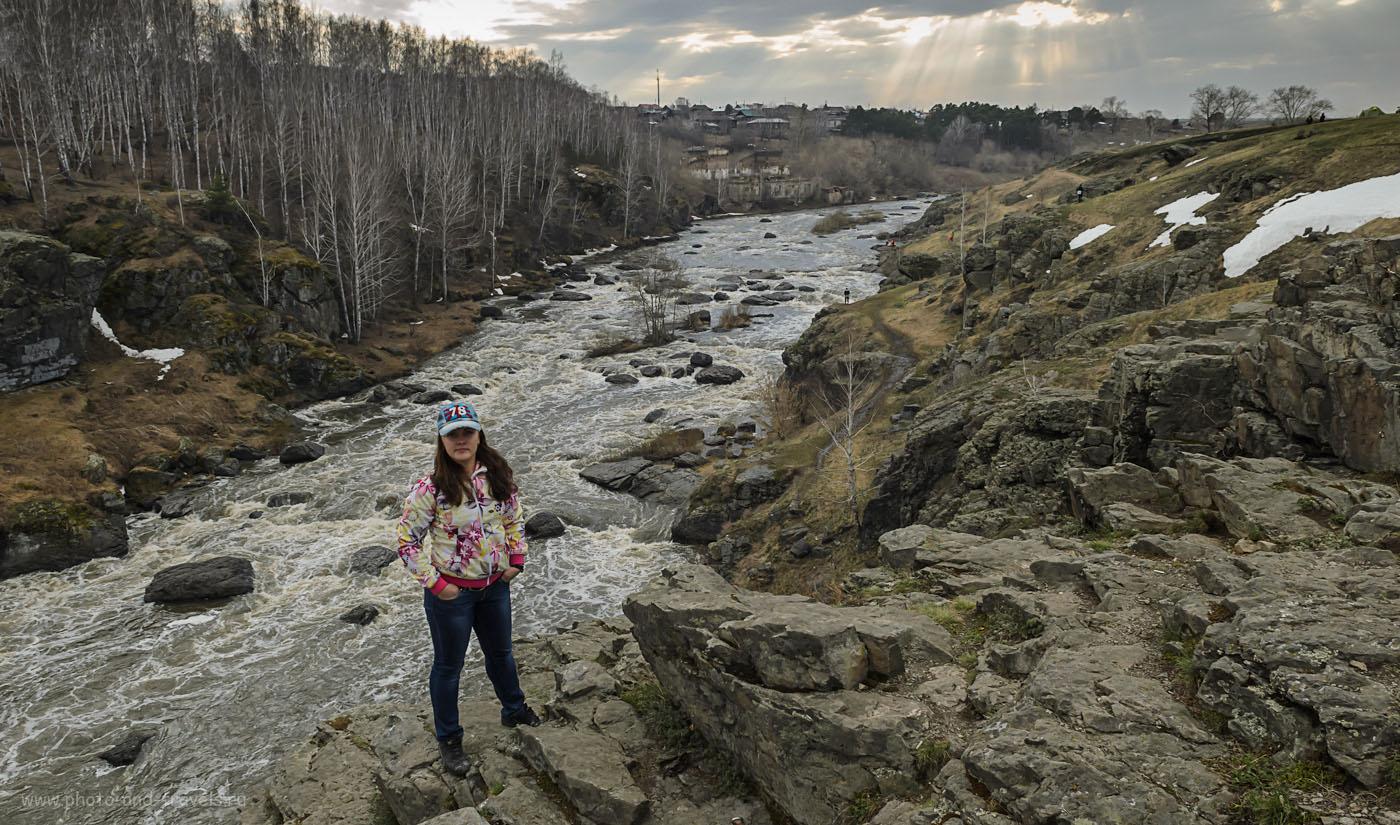 Фото 9. Солнце пробилось сквозь тучи и красиво осветило небо лучами. Порог Ревун на реке Исеть. Как доехать на автомобиле в поездку выходного дня из Екатеринбурга.