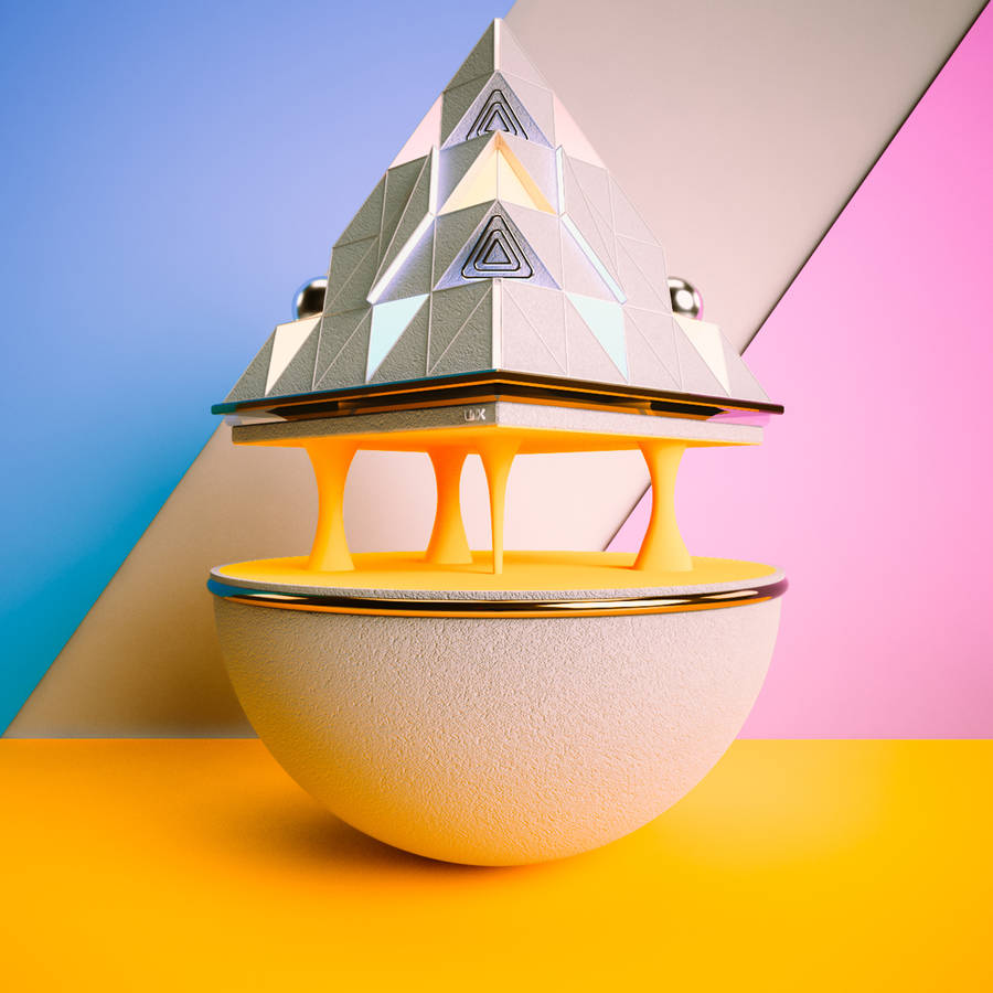 Aesthetic Colorful & Geometric 3D Structures