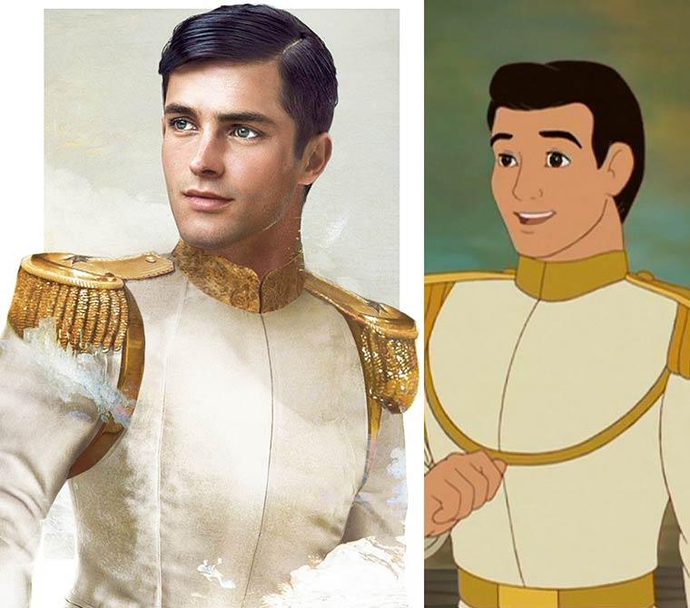 Les Princes Disney en version realiste