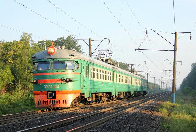 ЭР9ПК-153 на перегоне Богоявленск - Хоботово