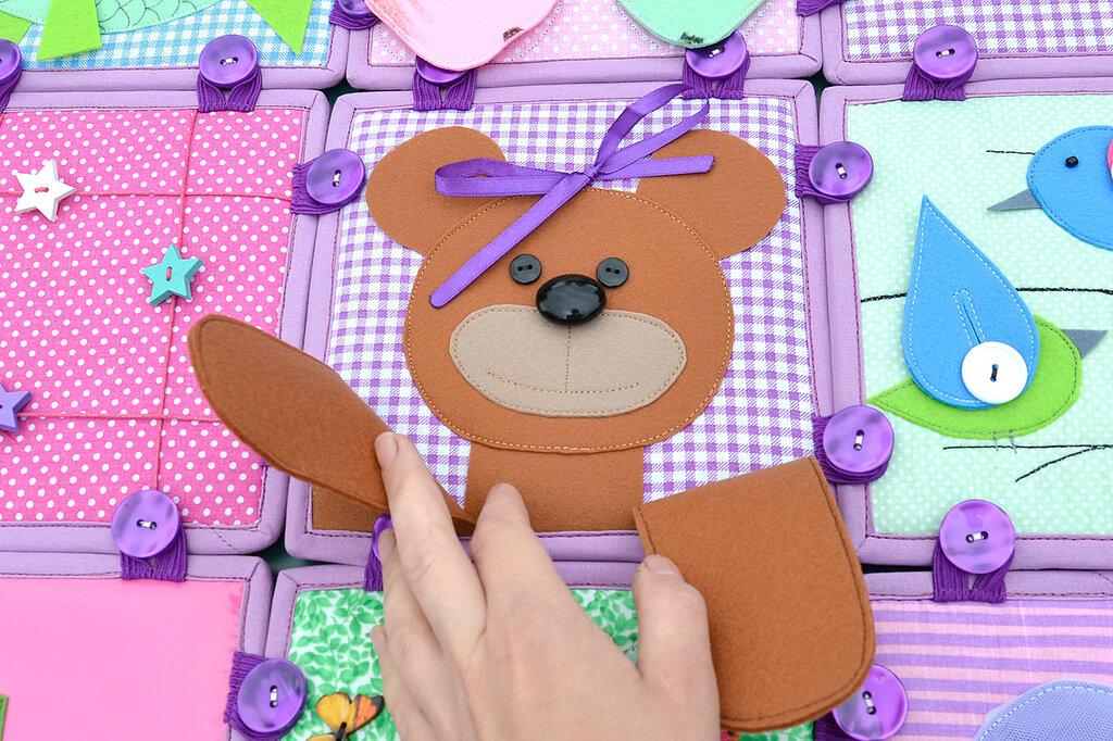 кубики покрывало подушка комплект в детскую салатовый сиреневый (12).JPG