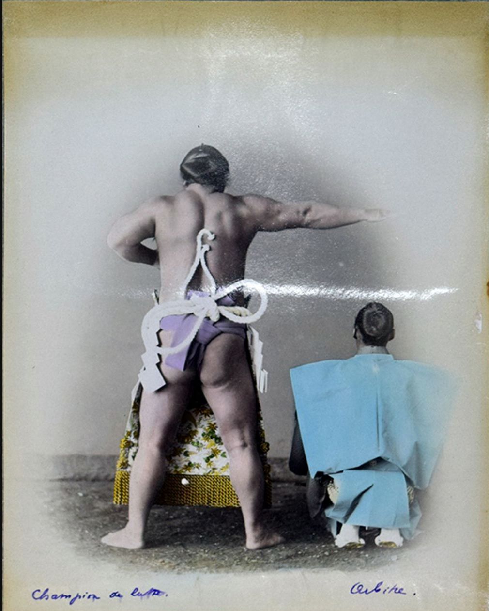 Чемпион по борьбе сумо и судья