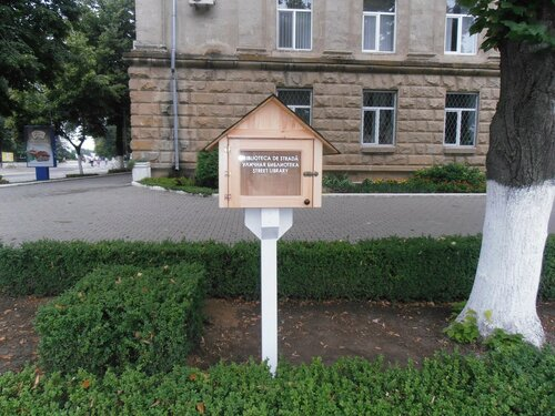 "Вандалы разбили стоящую у примарии Бельц ""Уличную библиотеку"""