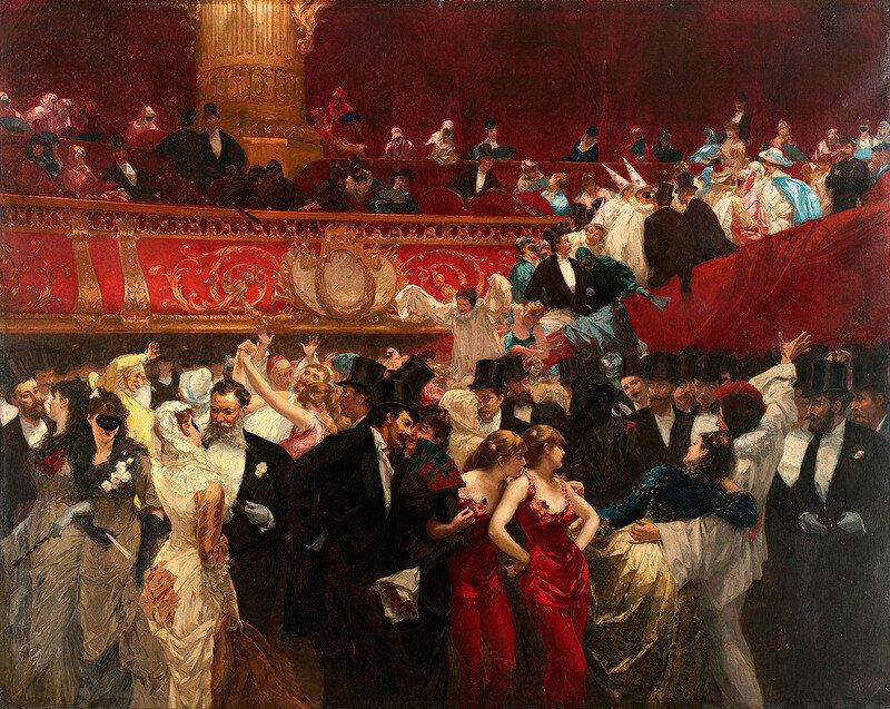 Бал-маскарад / Художник Charles Hermans (1839-1924)